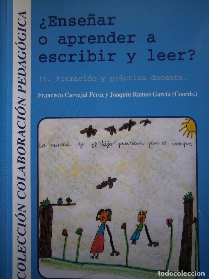 ENSEÑAR O APRENDER A ESCRIBIR Y LEER FRANCISCO CARVAJAL PEREZ 1 EDICION 1999 (Libros de Segunda Mano - Ciencias, Manuales y Oficios - Pedagogía)