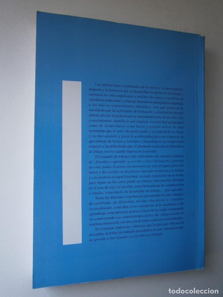 Libros de segunda mano: ENSEÑAR O APRENDER A ESCRIBIR Y LEER Francisco Carvajal Perez 1 Edicion 1999 - Foto 4 - 117711271