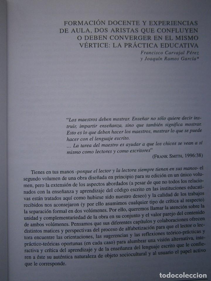 Libros de segunda mano: ENSEÑAR O APRENDER A ESCRIBIR Y LEER Francisco Carvajal Perez 1 Edicion 1999 - Foto 10 - 117711271