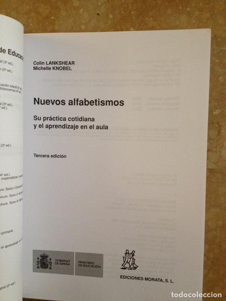 Libros de segunda mano: Nuevos alfabetismos. Su práctica cotidiana y el aprendizaje en el aula (C. Lankshear, M. Knobel) - Foto 3 - 117914471
