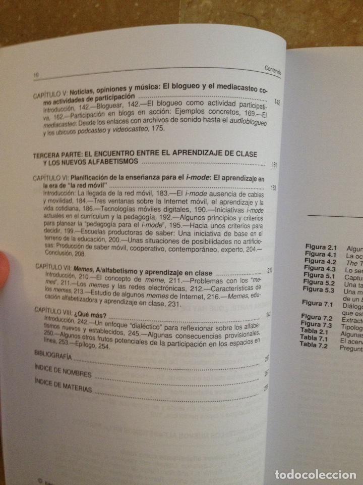 Libros de segunda mano: Nuevos alfabetismos. Su práctica cotidiana y el aprendizaje en el aula (C. Lankshear, M. Knobel) - Foto 5 - 117914471