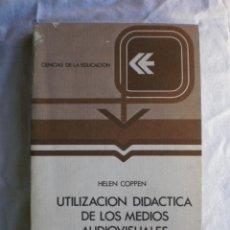 Libros de segunda mano: UTILIZACION DIDACTICA DE LOS MEDIOS AUDIOVISUALES. Lote 117986299