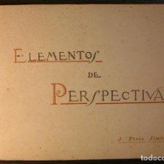 Libros de segunda mano: ELEMENTOS DE PERSPECTIVA LINEAL. J. PEREZ JIMENEZ, 1927. Lote 119149471