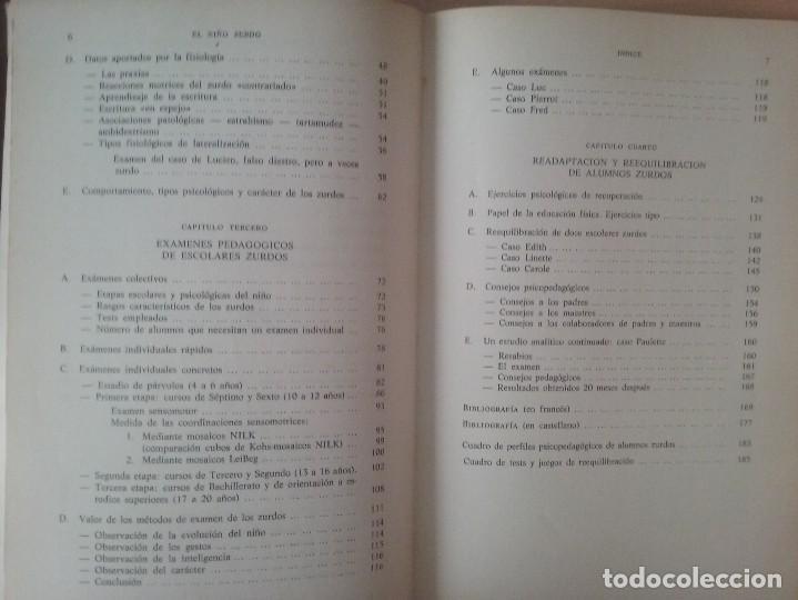 Libros de segunda mano: EL NIÑO ZURDO. DIAGNOSTICO Y TRATAMIENTO. PIERRE KLINGEBIEL - Foto 3 - 120290039