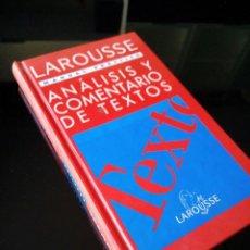Libros de segunda mano: ANALISIS Y COMENTARIOS DE TEXTOS. LAROUSSE. MANUAL PRACTICO. 1995. Lote 121059295