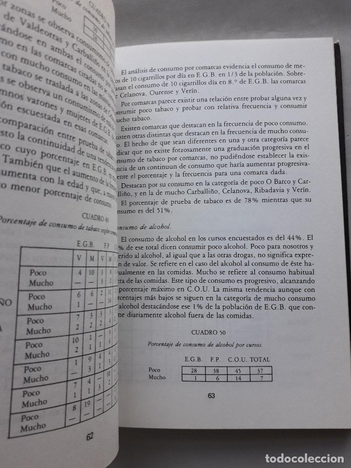 Libros de segunda mano: La Droga en el ámbito estudiantil no universitario de la provincia de Orense. - Foto 3 - 121223591