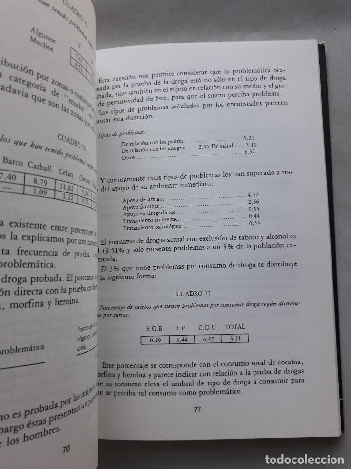 Libros de segunda mano: La Droga en el ámbito estudiantil no universitario de la provincia de Orense. - Foto 4 - 121223591