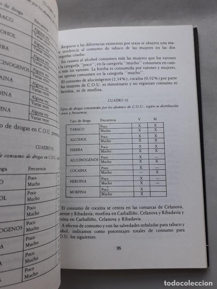 Libros de segunda mano: La Droga en el ámbito estudiantil no universitario de la provincia de Orense. - Foto 5 - 121223591