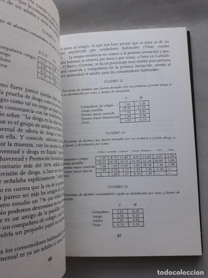 Libros de segunda mano: La Droga en el ámbito estudiantil no universitario de la provincia de Orense. - Foto 6 - 121223591