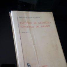 Libros de segunda mano: ESTUDIOS DE GRAMATICA FUNCIONAL DEL ESPAÑOL. EMILIO ALARCOS LLRACH. 1984. Lote 124497727