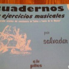 Libros de segunda mano: EJERCICIOS MUSICALES. Lote 126266998