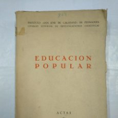 Second hand books - EDUCACION POPULAR. INSTITUTO SAN JOSE DE CALASANZ. ACTAS V CONGRESO INTERNACIONAL PEDAGOGIA TDK182 - 126996879
