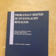 Libros de segunda mano: PEDAGOGÍA. PROBLEMAS Y DISEÑOS DE INVESTIGACIÓN RESUELTOS (VV. AA.) 3ª EDICIÓN. REVISADA Y AMPLIADA. Lote 127751550