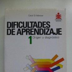 Libros de segunda mano: DIFICULTADES DE APRENDIZAJE. ORIGEN Y DIAGNÓSTICO. 1. Lote 128102155