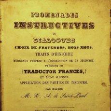 Libros de segunda mano: PROMENADES INSTRUCTIVES OU DIALOGUES ... BARCELONE, 1864. Lote 128289555