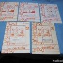Libros de segunda mano: CUADERNO DE ESCRITURA Y DIBUJO MI CARTILLA ALVAREZ Nº 1-2-3-4-5 SELLO LIBRERIA LA ALIANZA BADAJOZ. Lote 128734419