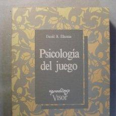 Livres d'occasion: PSICOLOGÍA DEL JUEGO / DANIIL B. ELKONIN / 1985. VISOR. Lote 129851931