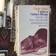 Libros de segunda mano: CARTAS A GUINEA-BISSAU. PAULO FREIRE. Lote 130588687