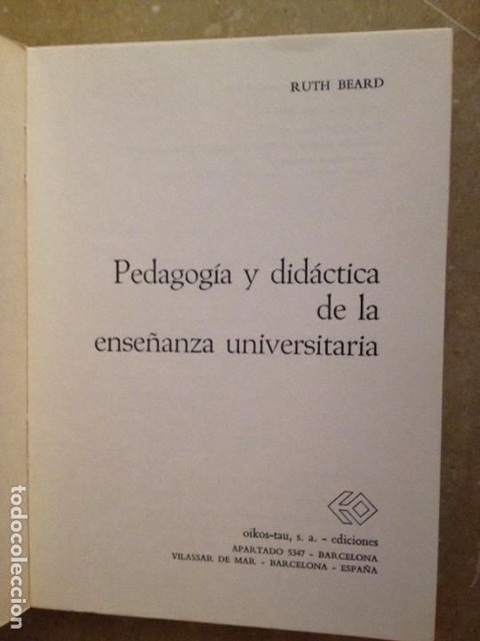 Libros de segunda mano: Pedagogía y didáctica de la enseñanza universitaria (Ruth Beard) - Foto 2 - 131169549