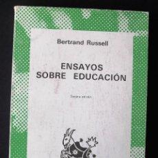 Livres d'occasion: ENSAYOS SOBRE EDUCACIÓN. BERTRAND RUSSELL.. Lote 131988134