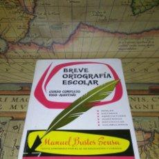 Libros de segunda mano: BREVE ORTOGRAFÍA ESCOLAR. CURSO COMPLETO VISO-AUDITIVO. - BUSTOS SOUSA, MANUEL.. Lote 133294994