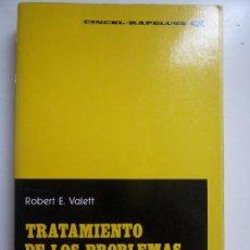 Libros de segunda mano: TRATAMIENTO DE LOS PROBLEMAS DE APRENDIZAJE. VALETT. Lote 133310102