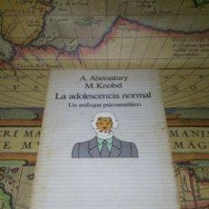 Livres d'occasion: LA ADOLESCENCIA NORMAL. UN ENFOQUE PSICOANALITICO. A. ABERASTURY M. KNOBEL. Lote 139320861