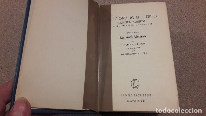 Libros de segunda mano: DICCIONARIO MODERNO LANGENSCHEIDT...ESPAÑOL ALEMÁN...1974... - Foto 2 - 139405826