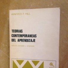 Libros de segunda mano: TEORÍAS CONTEMPORÁNEAS DEL APRENDIZAJE (WINFRED F. HILL). Lote 251518220