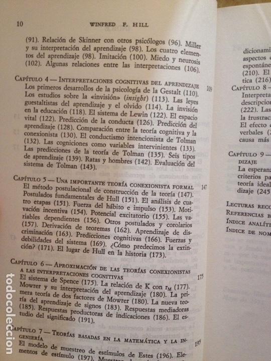 Libros de segunda mano: Teorías contemporáneas del aprendizaje (Winfred F. Hill) - Foto 4 - 251518220