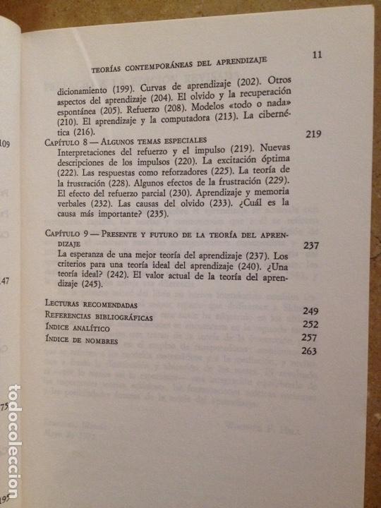 Libros de segunda mano: Teorías contemporáneas del aprendizaje (Winfred F. Hill) - Foto 5 - 251518220