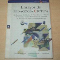 Libros de segunda mano: ENSAYOS DE PEDAGOGÍA CRÍTICA - VARIOS AUTORES - EDITORIAL POPULAR. Lote 139760354