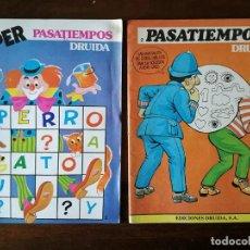 Libros de segunda mano: 4 ESTUPENDOS LIBROS DRUIDA PASATIEMPOS INFANTILES JUVENILES 1983 NUEVO. Lote 139926926