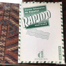 Libros de segunda mano: CURSO INTENSIVO DE ESPAÑOL RÁPIDO. GUÍA DEL PROFESOR. OLGA JUAN LÁZARO. Lote 140199726