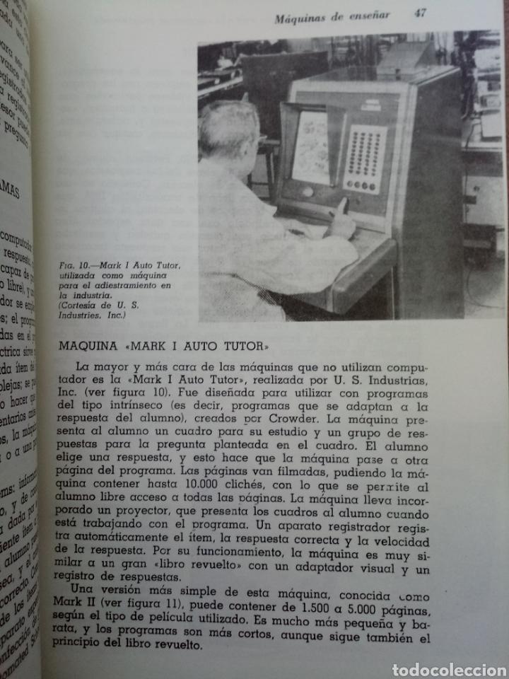 Libros de segunda mano: Libro Máquinas de Enseñar y Enseñanza Programada - Foto 3 - 141938342