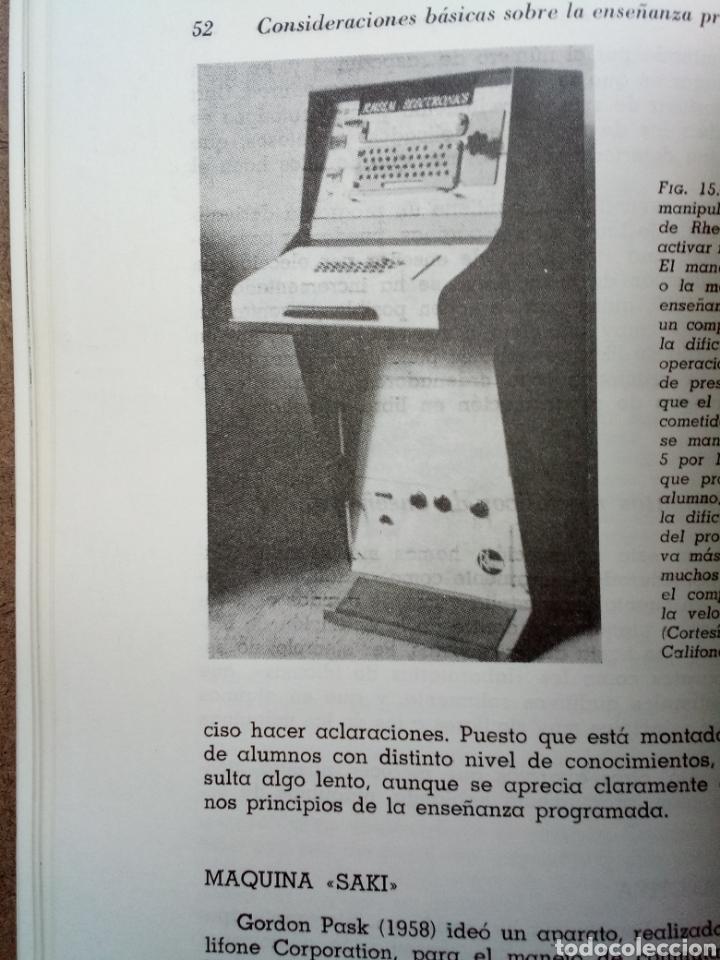 Libros de segunda mano: Libro Máquinas de Enseñar y Enseñanza Programada - Foto 4 - 141938342
