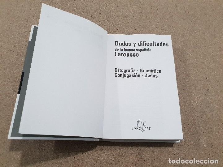 Libros de segunda mano: DUDAS Y DIFICULTADES DE LA LENGUA ESPAÑOLA.....LAROUSSE... - Foto 2 - 144558838