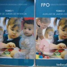 Libros de segunda mano: AUXILIAR DE JARDIN DE INFANCIA TOMO 1 Y 2 FORMACION PROFESIONAL Y OPOSICIONES. Lote 144637046