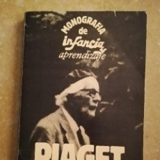 Libros de segunda mano: PIAGET. MONOGRAFÍA DE INFANCIA Y APRENDIZAJE. Lote 145445098