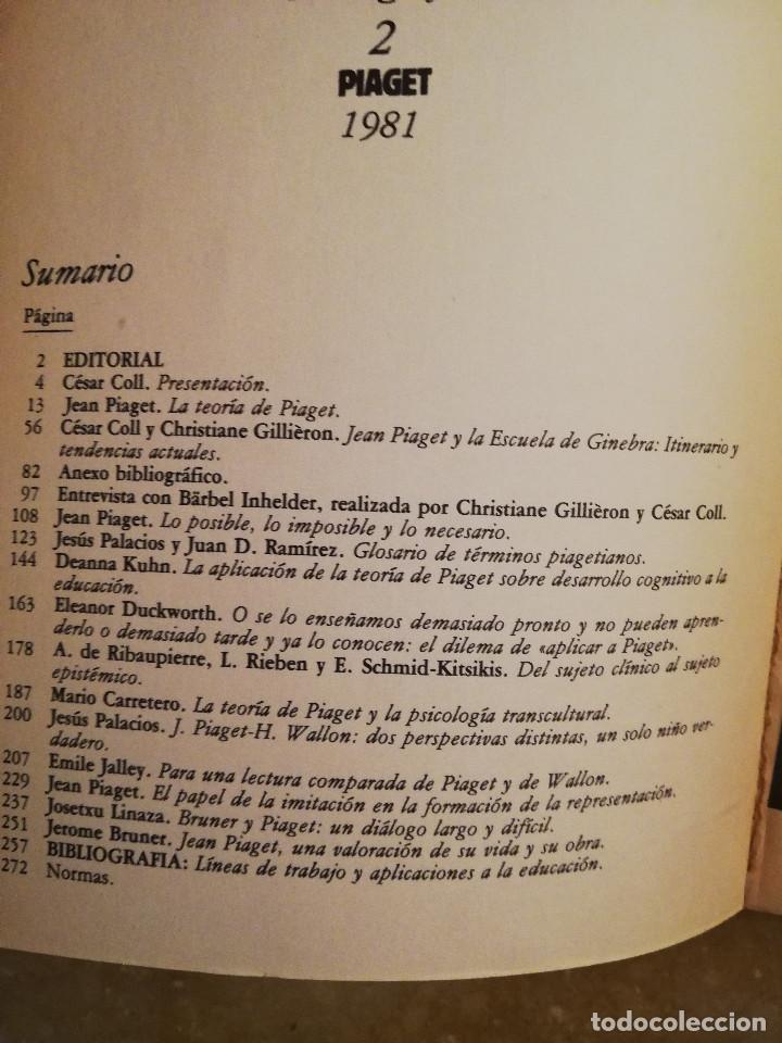 Libros de segunda mano: PIAGET. MONOGRAFÍA DE INFANCIA Y APRENDIZAJE - Foto 2 - 145445098