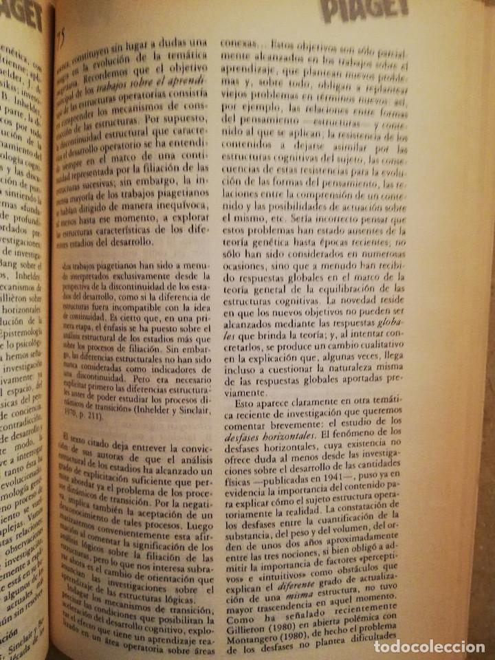 Libros de segunda mano: PIAGET. MONOGRAFÍA DE INFANCIA Y APRENDIZAJE - Foto 5 - 145445098