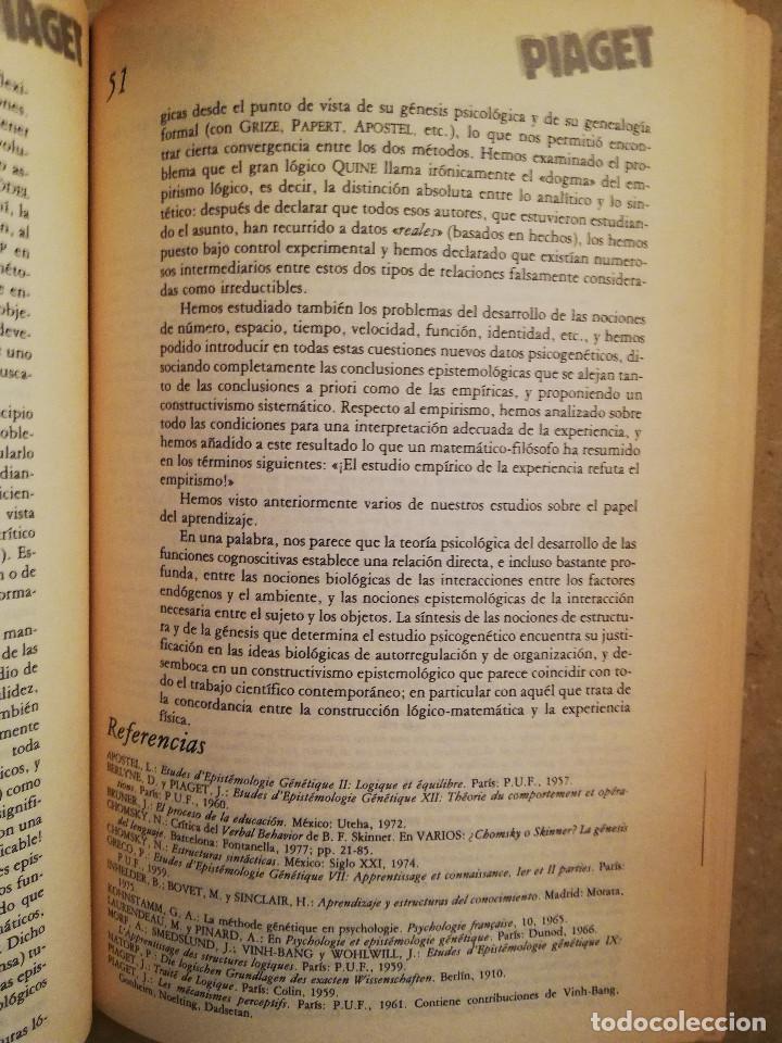 Libros de segunda mano: PIAGET. MONOGRAFÍA DE INFANCIA Y APRENDIZAJE - Foto 6 - 145445098