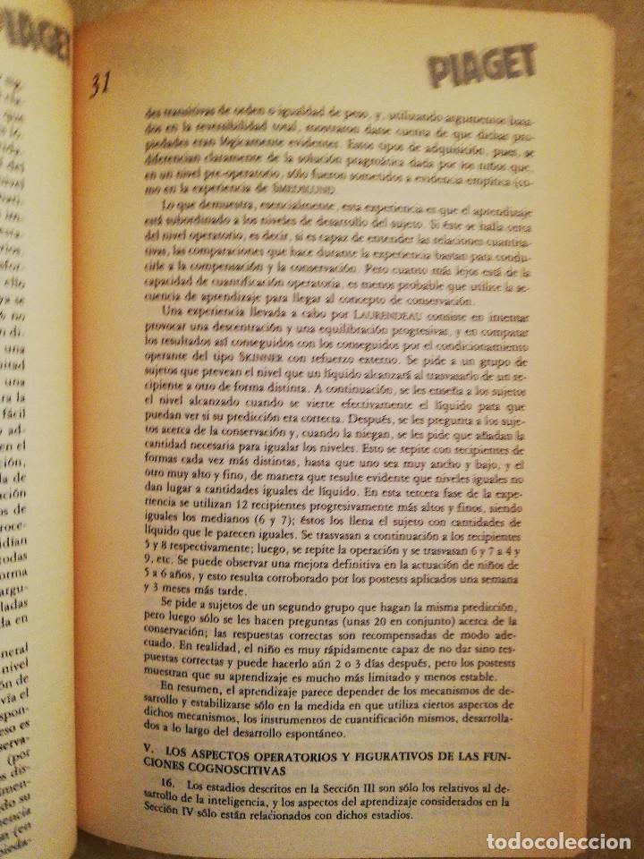 Libros de segunda mano: PIAGET. MONOGRAFÍA DE INFANCIA Y APRENDIZAJE - Foto 7 - 145445098