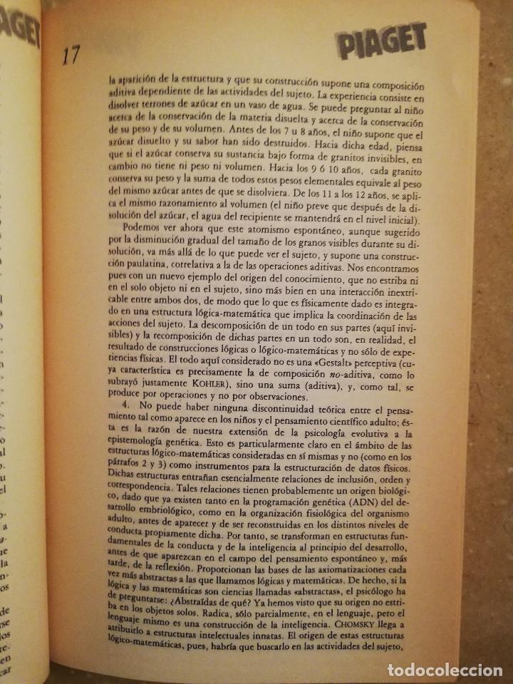 Libros de segunda mano: PIAGET. MONOGRAFÍA DE INFANCIA Y APRENDIZAJE - Foto 8 - 145445098