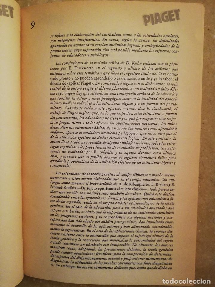 Libros de segunda mano: PIAGET. MONOGRAFÍA DE INFANCIA Y APRENDIZAJE - Foto 9 - 145445098