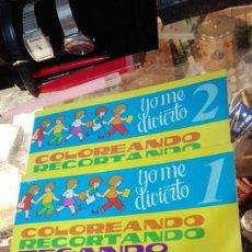 Libros de segunda mano: YO ME DIVIERTO 1 Y 2 TORAY COLOREANDO RECORTANDO PEGANDO INVENTANDO Y SOBRE TODO JUGANDO. Lote 145624026