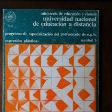 Libros de segunda mano: EXPRESION PLASTICA. UNED, CUATRO LIBROS. Lote 146720390