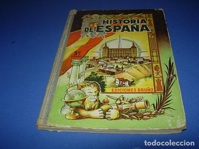 HISTORIA DE ESPAÑA (3º, BRUÑO, 1949) (Libros de Segunda Mano - Ciencias, Manuales y Oficios - Pedagogía)