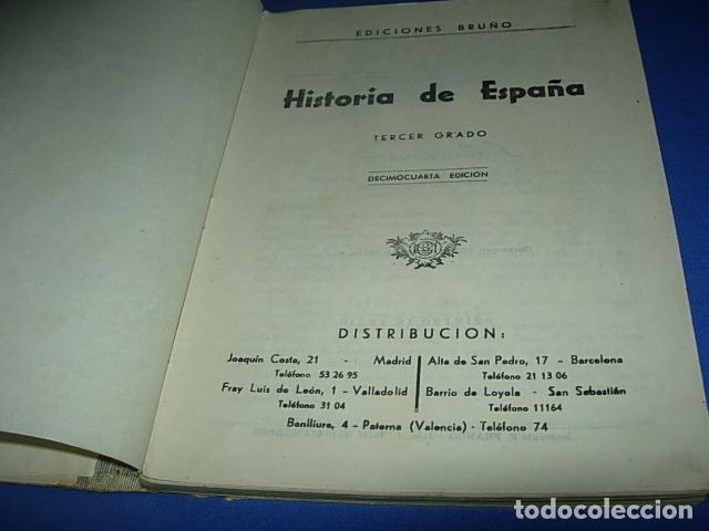Libros de segunda mano: HISTORIA DE ESPAÑA (3º, BRUÑO, 1949) - Foto 2 - 147270302