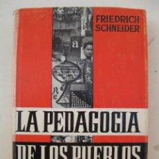 Libros de segunda mano: LA PEDAGOGÍA DE LOS PUEBLOS - FRIEDRICH SCHNEIDER - EDITORIAL HERDER - AÑO 1964.. Lote 147328126